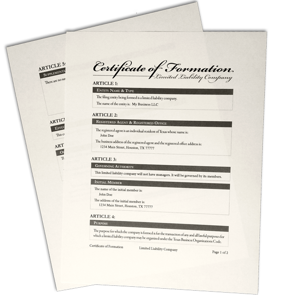 LLC Start-Up Bundle (Texas Only) | The Law Office of Paul T. Freeman ...