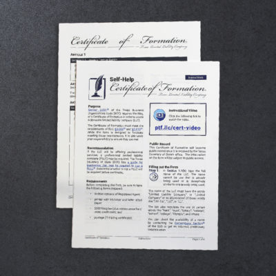 LLC Company Agreement (Texas Only) | Paul T. Freeman
